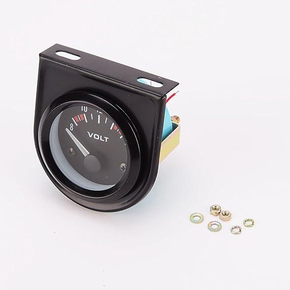 VORCOOL 52mm Spannung Meter Messgerät Voltmeter für Auto Auto 8 ...