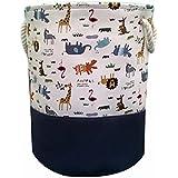 HIYAGO Storage Baskets,Cotton foldable round Home organizer...