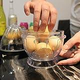 10 Seconds Egg Stripper Peel 5 Hard Boiled Eggs Boiled Multi Egg Peeler (Shake and Peel)