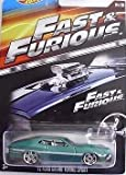 HOT WHEELS 2015 FAST AND FURIOUS RELEASE EXCLUSIVE GREEN 72 FORD GRAND TORINO SPORT #4/8 DIE-CAST