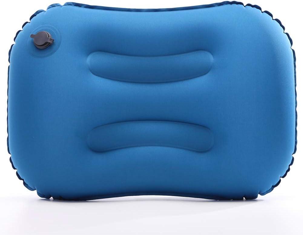 FANDE Almohada de Viaje Inflable, Almohada Hinchable, Almohada Inflable Ultraligera, Compresible, Plegable, Hinchable Pillow para Camping, Viaje, Exterior (Azul)