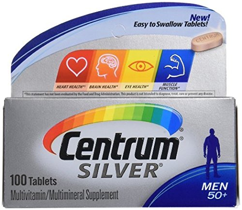 Centrum Silver Men 50 Multivitamin multimineral 100 Tablets 2 Pack