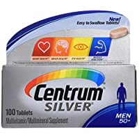 Centrum Silver Men 50 + Multivitamin/multimineral 100 Tablets (2 Pack)