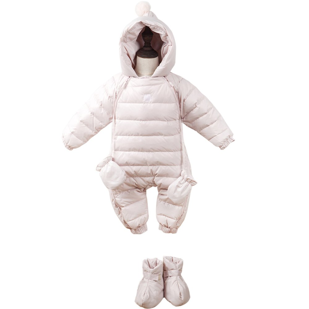 Ding-dong Baby Boy Girl Hooded Puffer Snowsuit