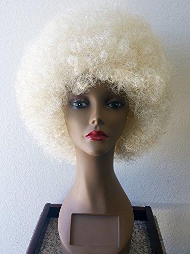 Blonde Hippie Costumes Wig (Afro Blonde Wig - #1 Afro Disco Hippie 60s 70s Wig)