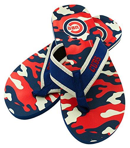 Forever Collectibles MLB Chicago Cubs Men's Contour Flip Flop, Medium, Blue/Camouflage ()