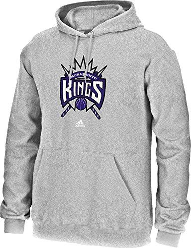 NBA Sacramento Kings Men's Full Primary Logo Fleece Hoodie, Large, Grey