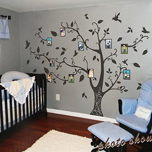Cheap  MairGwall Photo Frame Family Tree Wall Decals Wall Stickers Family Tree Decal..