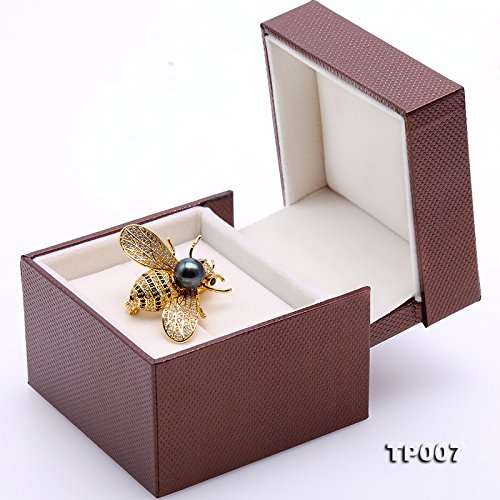 JYX Fine 9mm Tahitian Southsea Cultured Pearl Brooch Pin Pendant Bee-style by JYX Pearl (Image #7)
