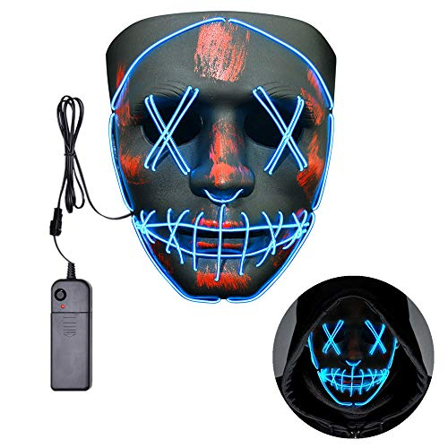Raptor Halloween Prank (Halloween LED Mask for Adults and Kids Scary Light up Mask for Halloween Festival)