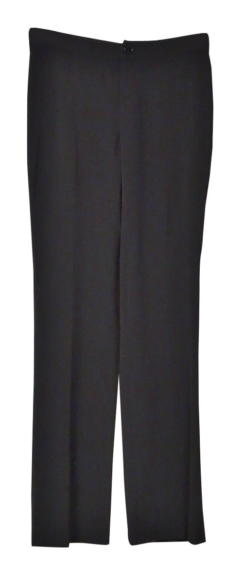 Lauren by Ralph Lauren Women's Knit Straight Dress Pants (0, Black)