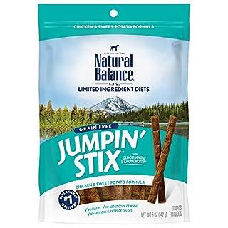 Natural Balance L.I.D. Limited Ingredient Diets Jumpin' Stix Dog Treats, Chicken & Sweet Potato Formula, 5 Ounces, Grain Free