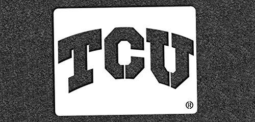 NCAA TCU Horned Frogs 04949 Mini Stencil Craft Kit 11 x 14.5 - Mini Tcu