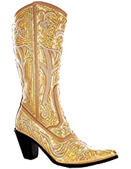 HELENS HEART 0290-12 GOLD WOMENS WESTERN BOOT Size 6M