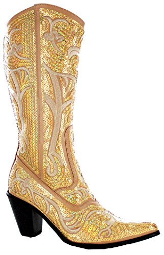 Helens Heart Bling Boots (9, Gold)]()