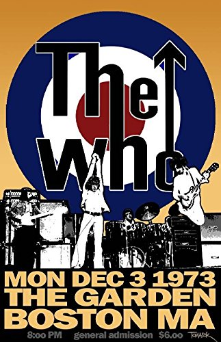 The-Who-Poster Musician Concert Poster Rock And Roll Legends Live Forever 12 X (Rock Roll Concert Posters)