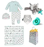 """Elephant Safari"" Baby Boy 7 Item Baby Shower Gift Set"