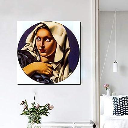 YuanMinglu Papel Pintado Lienzo Imagen Sala de Estar decoración del hogar Moderno Arte de la Pared Pintura al óleo póster Cuadro sin Marco Pintura 30x30 cm