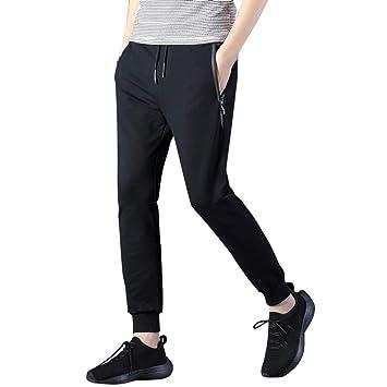 TAOtTAO - Pantalones de Moda para Hombre con Cinturones elásticos: Amazon.es: Deportes y aire libre