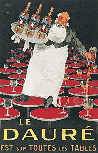 Le Daure by Lotti Vintage Wine Advertisement Print Poster