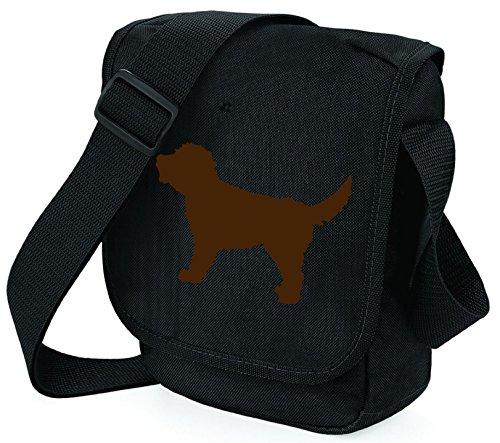 Pixie Bag Polyester Shoulder Bag Womens Bag Black Brown Dog S