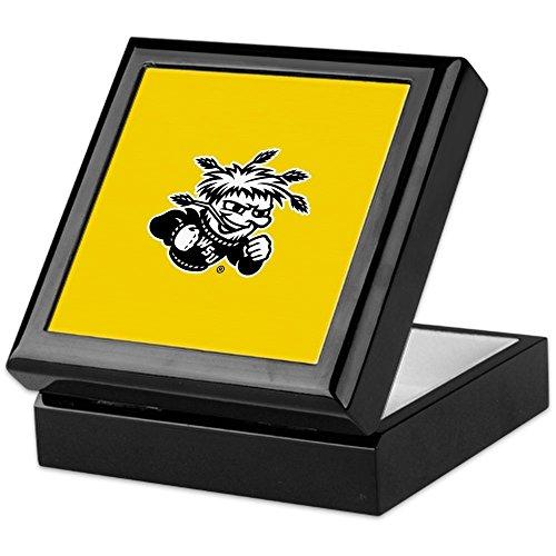 (CafePress - Wichita State University Wushock - Keepsake Box, Finished Hardwood Jewelry Box, Velvet Lined Memento Box)