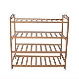 Saim Bamboo Shoe Rack 4-Tier Entryway Shoe Shelf Storage Organizer