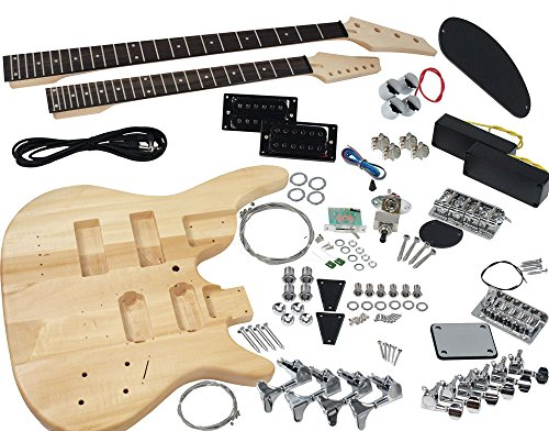 Guitars Bass Double Neck (Solo DJMBK-1 DIY Electric Guitar & Bass Double Neck Kit)