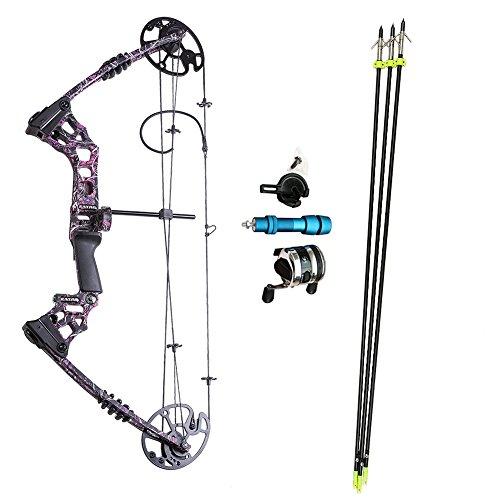 ATROPOS-120 プロアーチェリー狩猟弓複合ボウセット、 釣り弓セット、あらゆるアクセサリーを含む、左利きボウ、張力20-70lbsの商品画像