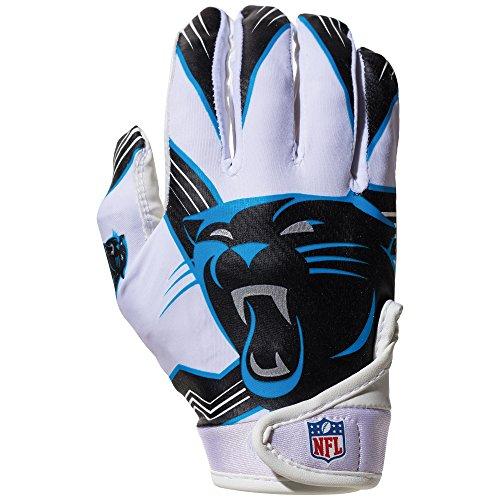 NFL Carolina Panthers Youth Receiver Gloves,White,Medium