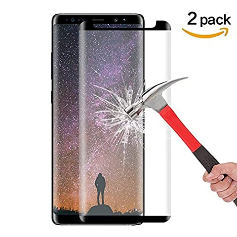 Galaxy Note 8 Screen Protector, Asstar Not Full Coverage 9H Hardness 2.5D Tempered Glass Anti-Scratch, Anti-Fingerprint, Bubble Free Screen Protector for Samsung Galaxy Note 8 (2 (Otterbox Privacy Screen Iphone 5)