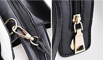 28c62a2937 Whobabe Tote bag per le donne in pelle PU Hobo messenger borsa a tracolla  con fiocco bianco crema  Amazon.it  Sport e tempo libero