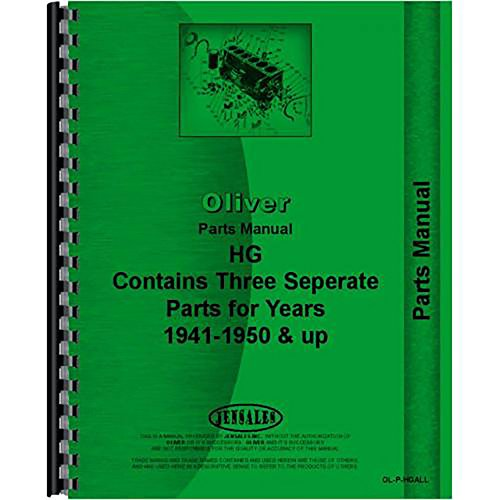 New Oliver HG Crawler Parts Manual