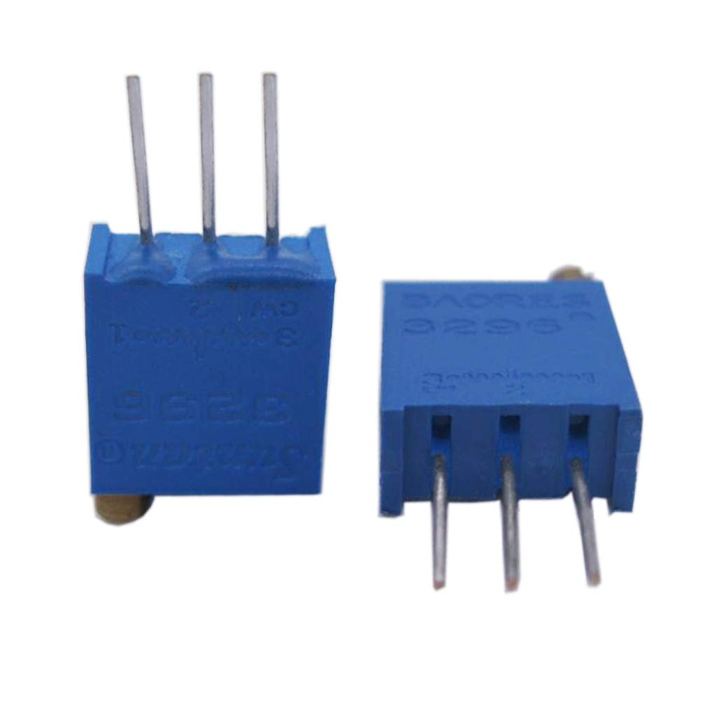 Twidec//A Set of 1K ohm-500K ohm Multiturn Trimmer Potentiometer 3296W 1K 2K 5K 10K 20K 50K 100K 250K 500K 1M Ohm Knurled Shaft Linear Rotary Taper Potentiometer with Black knobs WH148-11