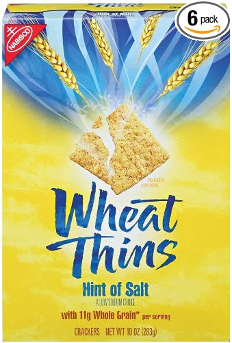 Wheat Thins, Low Sodium, 10-Ounce Boxes (Pack of 6)