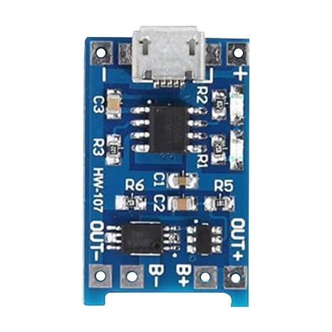 Gazechimp 3.7-4.2V Placa de Módulo de Cargador de Batería de ...