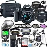 Canon EOS Rebel SL2 DSLR Camera Bundle Canon EF-S 18-55mm STM Lens & EF 75-300mm III Lens + 32GB Sandisk Memory + Canon Case + TTL Flash + Accessory Bundle