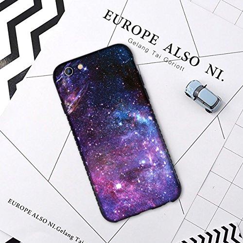iPhone 8 Case, iPhone 7 Case, BENTOBEN Nebula Galaxy Ultra Slim Lightweight Hard Plastic Shell Soft TPU Hybrid Dual Layer Anti-Scratch Protective Cover Case for iPhone 8/ iPhone 7, Purple Nebula Photo #7