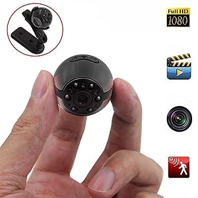 Spy Hidden Camera, Heymoko Round 1080P Full HD 6 LED Infrared Night Vision Motion Detection Portable Spy Voice Video Recorder Home Surveillance Camera DV from Heymoko