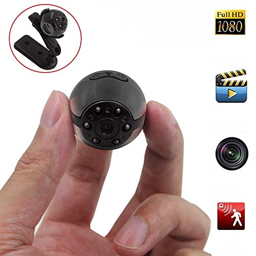 Mini Spy Hidden Camera, Heymoko 1080P/720P Full HD 6 LED Infrared Night Vision Motion Detection Portable Spy Camera Home Surveillance Camera Nanny Cam ()
