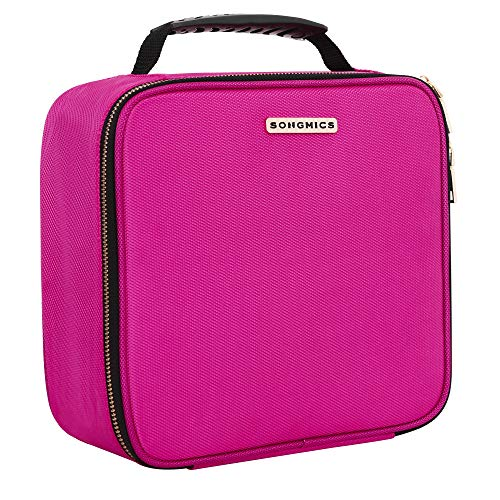 "SONGMICS 10.6"" Cosmetic Bags travel Makeup Train Case with A"