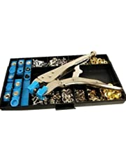 Protool Snap, Grommet, & Rivet Tool Kit For Tarps Complete With Over 400 Pieces - Boat Covers, Canopies, Canvas Repair, Grommet Replacement