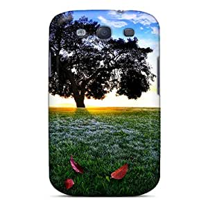 Galaxy S3 Case Cover - Slim Fit Tpu Protector Shock Absorbent Case (tree On The Hill)
