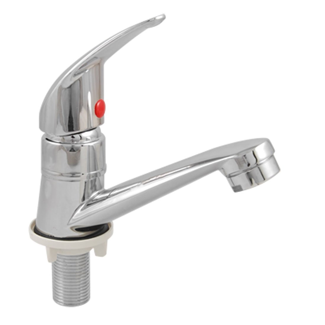 uxcell Bathroom Sink Chrome Finish Single Handle Basin Faucet Water Tap