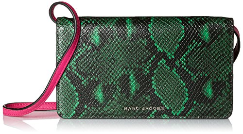 - Marc Jacobs Block Letter Snake Leather Strap Wallet, Green Snake Multi, One Size