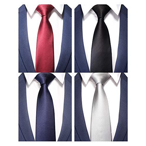 AVANTMEN New Men's neckties 6 Pack Classy Neck Tie for Men Woven Jacquard Neck -