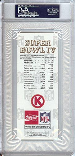 Tom Flores Signed Autograph 1970 Superbowl Replica Ticket Chiefs PSA/DNA Certified