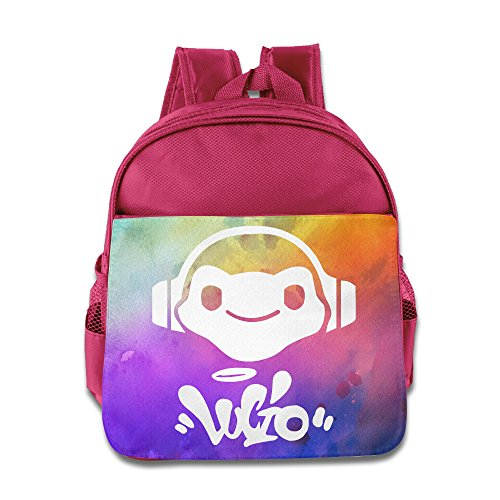 (CEDAEI Lucio Logo Over First-person Shooter Video Game Watch Personalized Boys And Girls School Bag Backpack For 1-6 Years Old Pink)