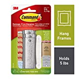 Command Universal Picture Hangers w/Stabilizer Strips, 3-Hangers (17047-3ES)