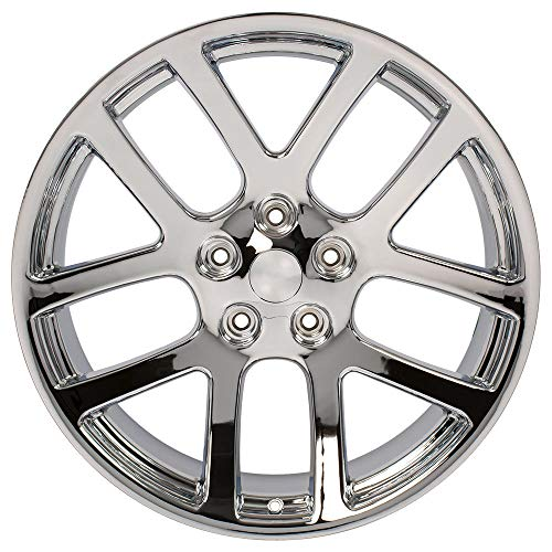 Partsynergy Replacement For Chrome Wheel Rim 22 Inch Fits 2002-2010 Dodge Ram 1500 5-139.7mm 5 Double Spokes Chrome 22x10